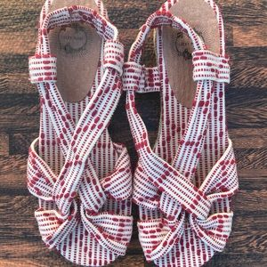Anthropology lucky penny sandals